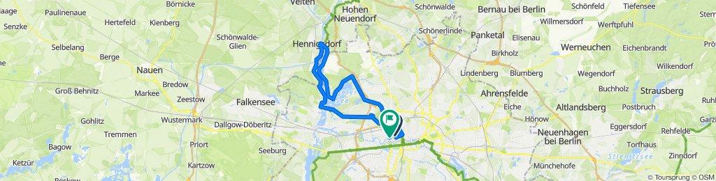 Knackige Fahrt in Berlin