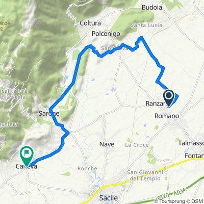 Via Callesella 18, Fontanafredda to Piazza Martiri Garibaldini 26, Caneva