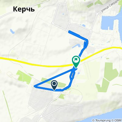 От Главная улица 28, Керчь до шоссе Героев Сталинграда 48 корпус 1, Керчь