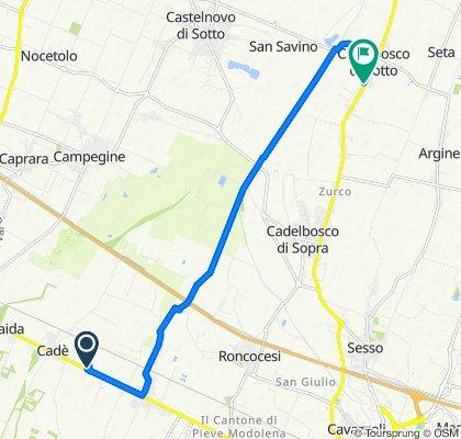 Da Via Giordano Bruno 7, Reggio nell'Emilia a Via G. Marconi 74, Cadelbosco di Sotto