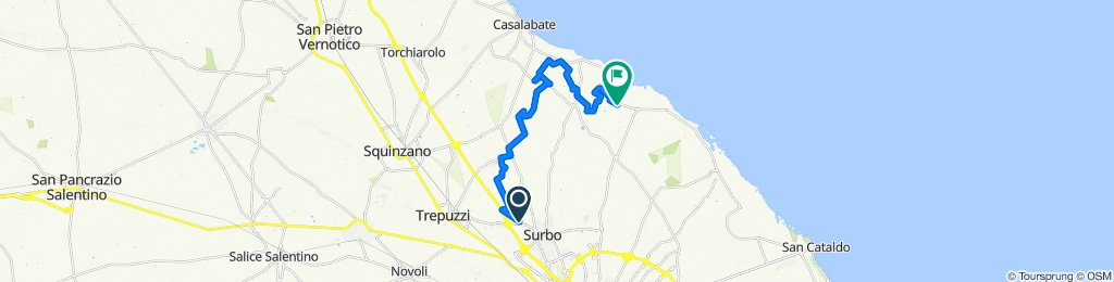 Da Via V. Alfieri, Surbo a Via dell'Istrice 3, Lecce