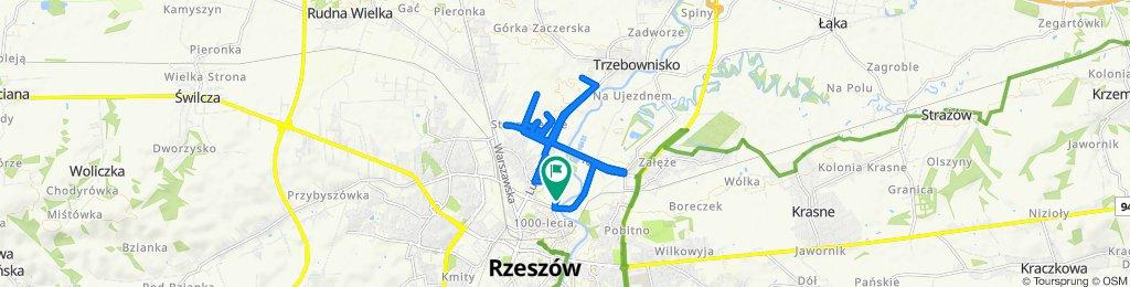 Umiarkowana trasa w Rzeszów