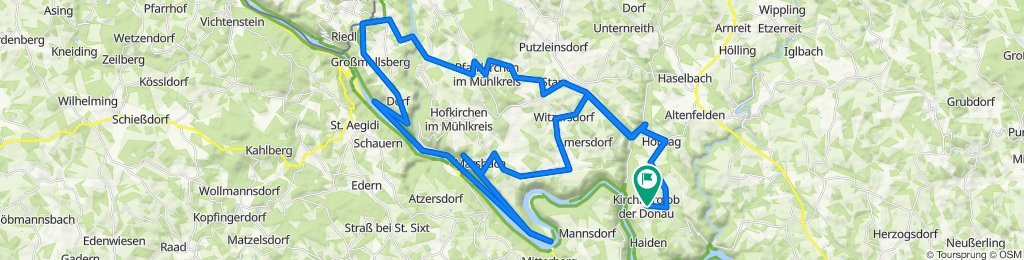 Kirchberg 2 nach Wolkersdorf 6, Kirchberg ob der Donau