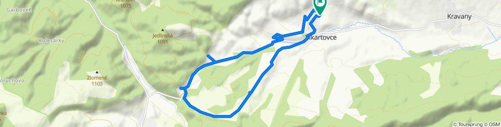 Uvoľnená trasa Vikartovce