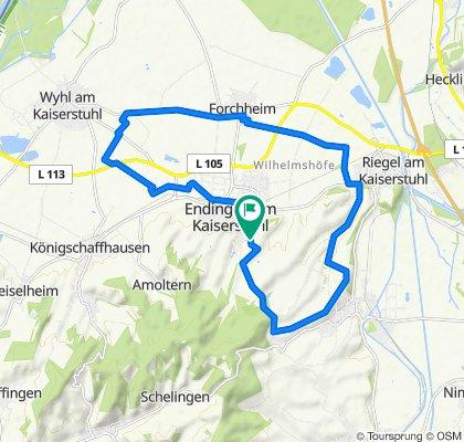 HM-Runde: Sewo – Bahlingen – Riegel – Forchheim – Kirschencafé – Sewo