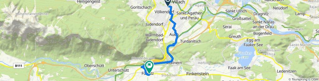 Langsame Fahrt in Fürnitz