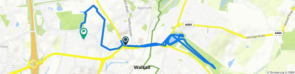 Umiarkowana trasa w Walsall