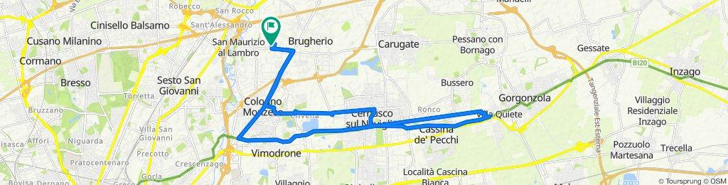 Percorso rilassato in Brugherio/Cologno/Gorgonzola/Cernusco