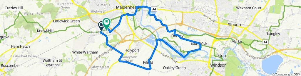 Cox Green to Dorney Lake loop