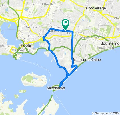 Spokojna trasa w Poole