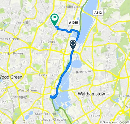 Lee Park Way, London to 17 Belmont Avenue, London