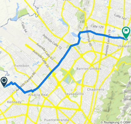 Steady ride in Bogotá