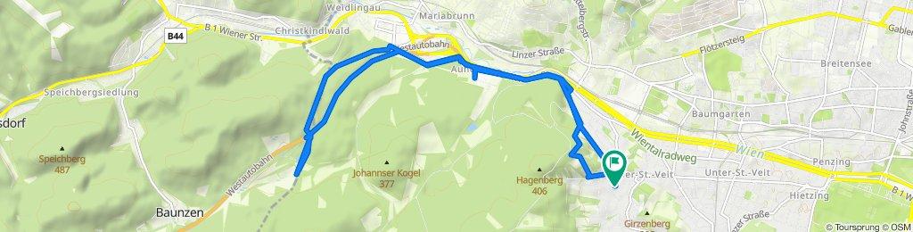 От Linzackergasse 12, Wien до Linzackergasse 12, Wien