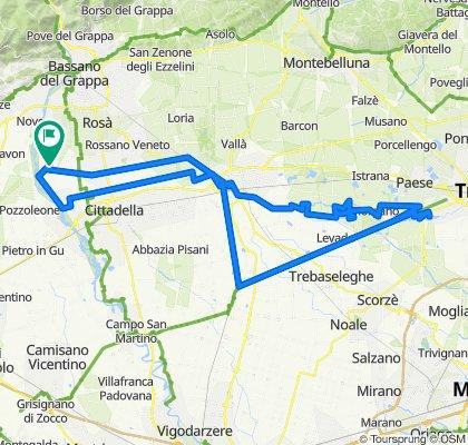 Da Via Don Antonio Belluzzo 1, Tezze sul Brenta a Via Risorgimento 20, Tezze sul Brenta
