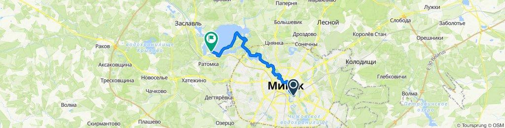 От Партизанский проспект 9, Минск до Unnamed Road