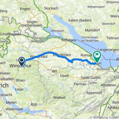 Langsame Fahrt in Arbon