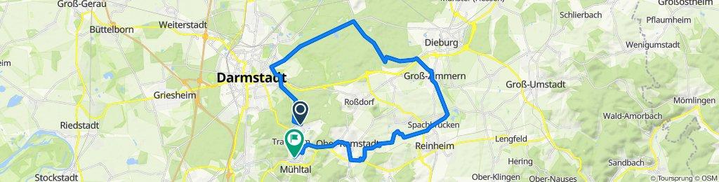 Waldstraße 76, Mühltal nach Zur Eichwiese 57, Mühltal