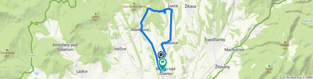 Stredná trasa Martin nad Žitavou