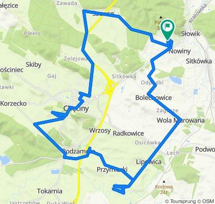 Zrelaksowana trasa w Sitkówka-Nowiny
