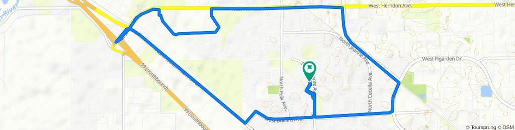 6321 N Barcus Ave, Fresno to 6321 N Barcus Ave, Fresno