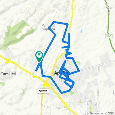 Da Via delle Valli , Aprilia a Via delle Valli , Aprilia