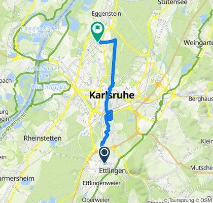 Heimfahrt aus Ettlingen