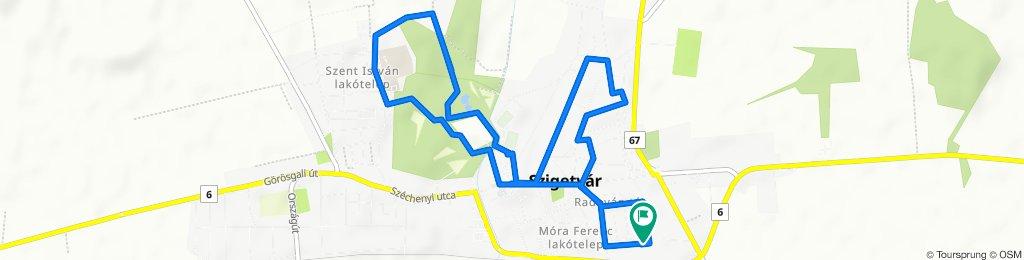 Kolozsvári utca 35., Szigetvár to Kolozsvári utca 35., Szigetvár
