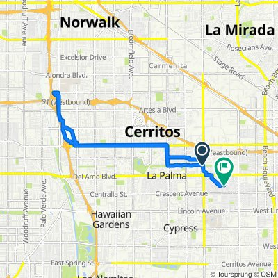 5984 Thelma Ave, La Palma to 6552 San Hernando Way, Buena Park