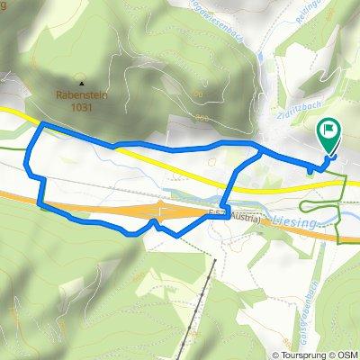 Langsame Fahrt in Mautern in Steiermark