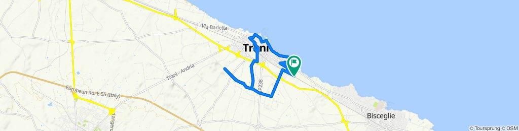 Da Via Ing. Domenico Tolomeo 138, Trani a Via Paolo Borsellino 161, Trani