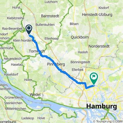 Elmshorn Plinkstraße nach Hamburg Groß Borstel