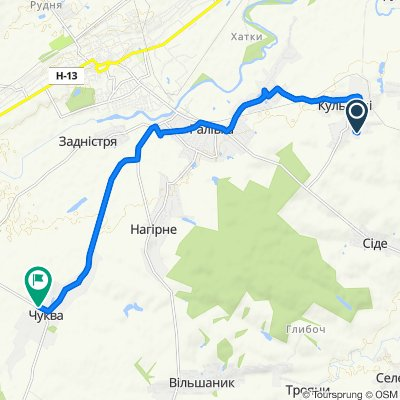Unnamed Road, Кульчиці to Unnamed Road, Чуква
