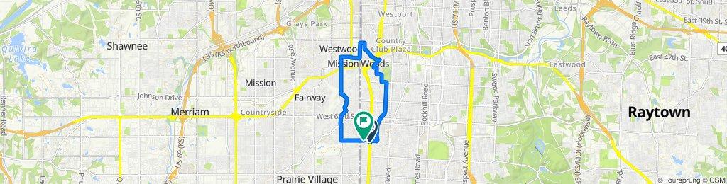 Ward Pkwy, Kansas City to 1218 W 68th Terr, Kansas City