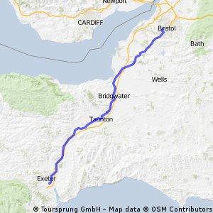 LEJOG Day 3 - Exeter to Bristol