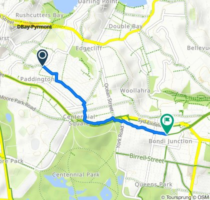 Moderate route in Bondi Junction