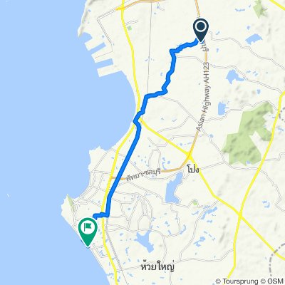 Route to Jomtiensainueng, Amphoe Bang Lamung