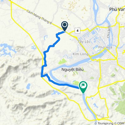 Cycling route from Culture Pham Travel to An Hien Garden House