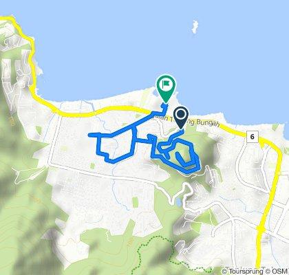 Langsame Fahrt in Bandar Tanjung Bungah