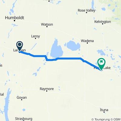 1030502 3of12 SK - 05b Lanigan, SK to Foam Lake, SK (Foam Lake Campground) 113km