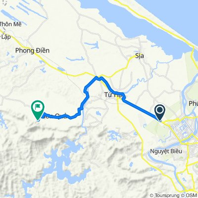 Cycling route from Culture Pham Travel to Alba Thanh Tan Hot Springs