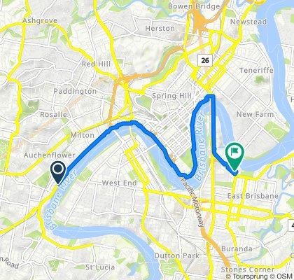 Bicentennial Bikeway, Toowong to 109 Thorn Street, Kangaroo Point