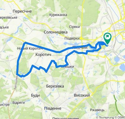 От вулиця Раднянська 1, Харків до вулиця Раднянська 1А, Харків