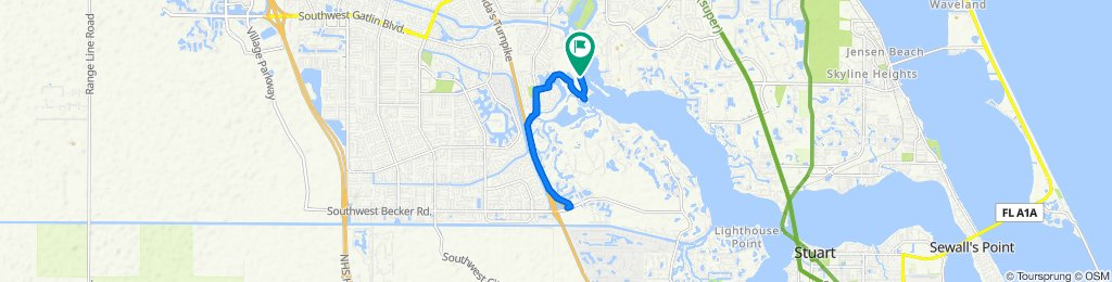 Moderate route in Port Saint Lucie