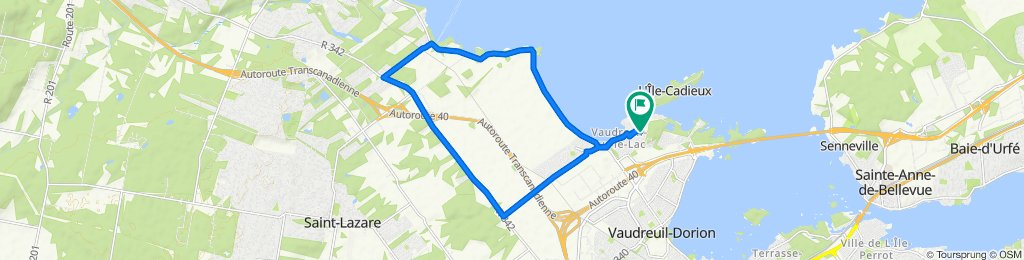 Relaxed route in Vaudreuil-sur-le-Lac