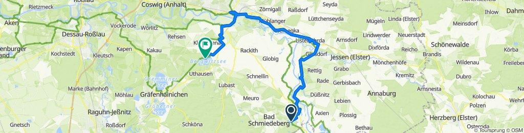 3. Tag: Bad Schmiedeberg - Lutherstadt Wittenberg - Camping Bergweitzsee