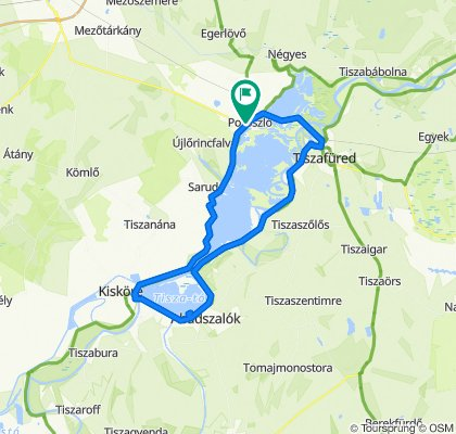Napsugár út 2–2/4., Poroszló to Csapó köz 8., Poroszló