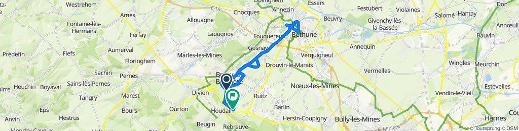 403 Rue Roger Salengro, Bruay-la-Buissière to 9 Rue des Chênes, Houdain