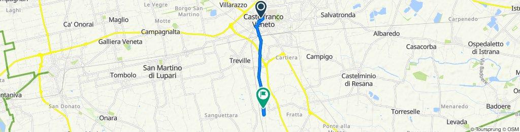 Giro semplice in Castelfranco Veneto
