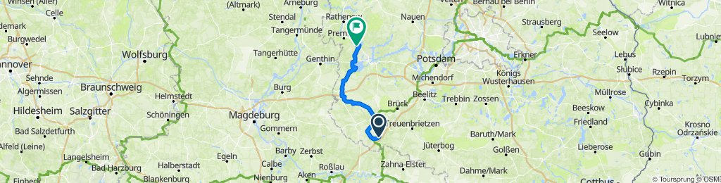 "5. Tag: Camp ""Hoher Fläming"" - Belzig - Hoher Fläming - Camping ""An der Unterhavel"" Havelsee"