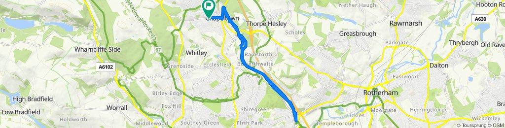 3A Hunshelf Road, Sheffield to 6 Hunshelf Road, Sheffield